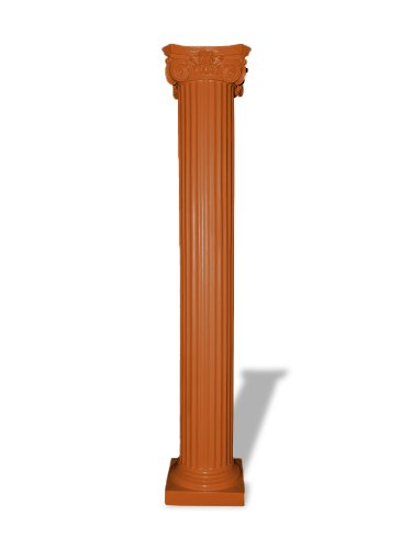 (Amedeo Design ResinStone 1800-58T Fluted Greek Capital Colums, 13 by 13 by 48-Inch, Terra Cotta)