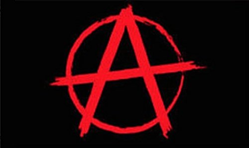Anarchy Flag Protest Banner Hippie Pennant 3x5 Anarchist Symbol Punk Rock New