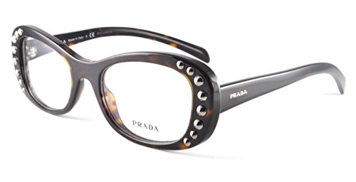 PRADA Eyeglasses PR 21RV 2AU1O1 Havana - Prada Eyeglasses Women