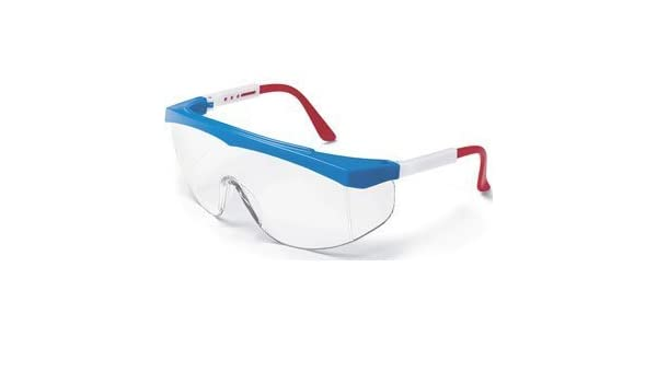 Safety Glasses MCR Shooting Eye Protection Anti-Scratch Work Clear Eyewear Red