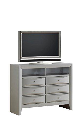 Glory Furniture G1503-TV2 Media Chest, Gray