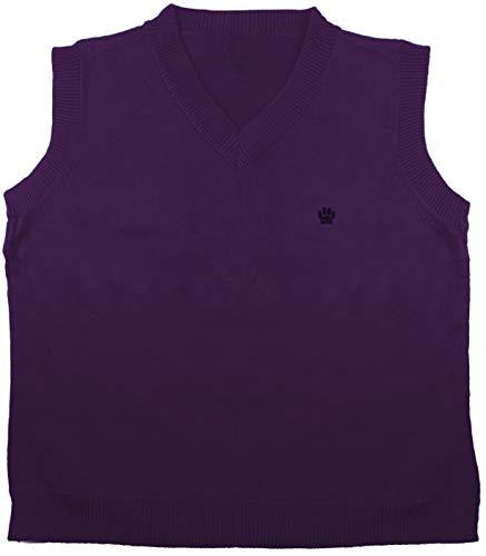 (Enimay Kids School Uniform Knit Sweater V-Neck Vest Argyle Pattern Pullover 82320A Plum 3)