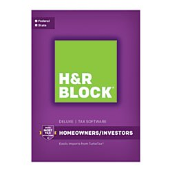 H & R Block HR Block(R) Deluxe + State 2016 Tax Software,...