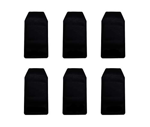 6 Pcs Black Vinyl Pocket Protector, for Pen Leaks,for School Hospital Office by Alago (Image #4)