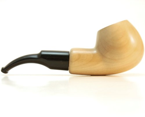 Mr. Brog Round Bent Tobacco Pipe – Model No: 33 Boxer Natural – Pear Wood Roots – Hand Made