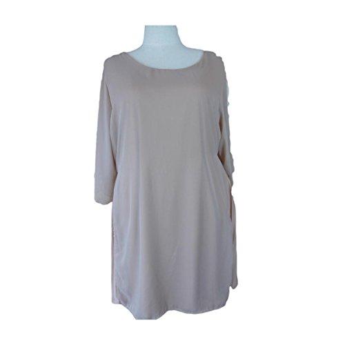 Unique Boutique -  Vestito  - plissettato - Donna beige beige XX-Large