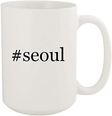 #seoul - 15oz Hashtag White Ceramic Coffee Mug