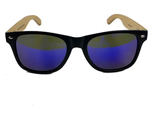 Wood Sided Polarized Sunglasses | Anti-Glare Lens (Black, ()