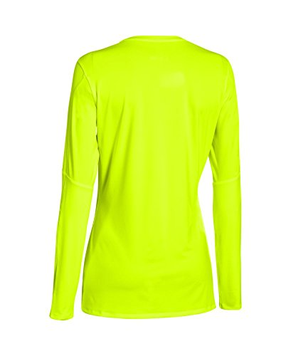Under Armour Womens UA Block Party Long Sleeve Jersey High-Vis Yellow/ High-Vis Yellow/ Black