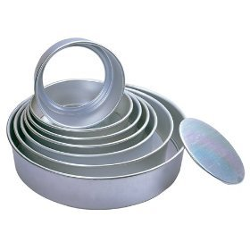 Fat Daddio's Anodized Aluminum Round Cheesecake Pans with Removable Bottoms