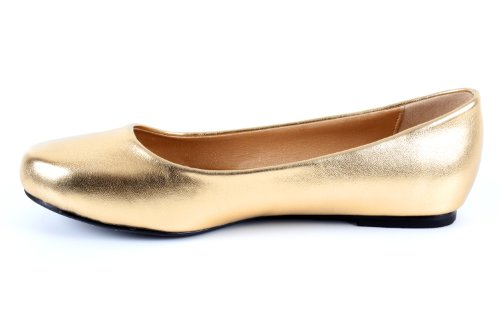 8 Andres EU Gold to sizes Engraved Large in Satin 10 5 Faux Classic 45 Leather Leather faux Ballerinas AM539 Machado Soft to 42 UK O1qwTrPO