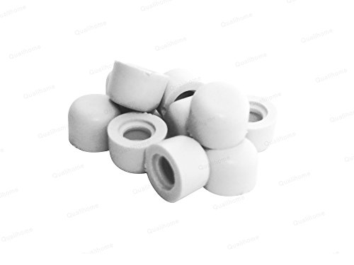 Lovely Premium Door Stop Replacement Rubber Tip, White (10 Pack)
