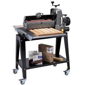 SUPERMAX TOOLS 19-38  Drum Sander with Open Stand, In/Out Tables, Casters
