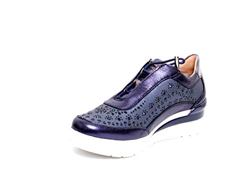 15 Laminated Bleu Lth Baskets Cream Femme 09k Stonefly v5qxpw