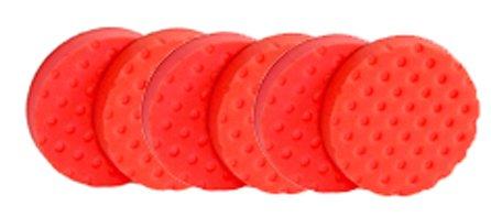 CCS Red 6.5 inch Ultrasoft Wax/Sealant Foam Pad-6 pack