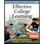 Effective College Learning by Holschuh,Jodi Patrick; Nist-Olejnik,Sherrie L.. [2010,2nd Edition.] Paperback