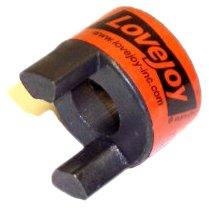 Lovejoy 49870 Size L070 Standard Jaw Coupling Hub, Sintered Iron, Metric, 10 mm Bore, 34.544 mm OD, 19.05 mm Length Through Bore, 12.881 Nm Max Nominal Torque, 3 mm x - Standard Length Iron