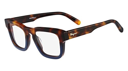 Amazon.com: SALVATORE FERRAGAMO Eyeglasses SF2716 235 Havana Blue ...