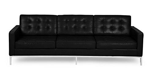 Kardiel Florence Knoll Style Sofa 3 Seat, Cadet Grey Tweed Cashmere Wool