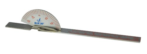 "Blue Jay Take A Range Check 6"" Stainless Steel Goniometer 140 Degree Protractor, Range of Motion Test, Physical & Occupational Therapy, Orthopedic, Chiropractic, ISOM Std-For Finger or Toe"