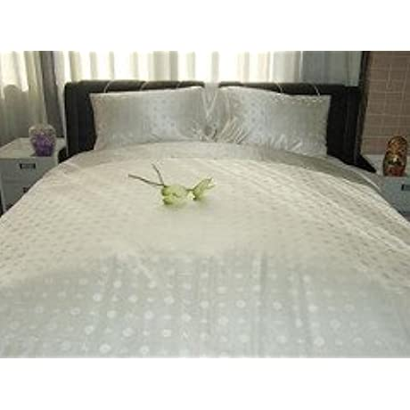 EcoSnug Royal 100 Mulberry Silk Seamless Duvet Cover 19MM 400TC Jacquard Silk Charmeuse Silk King