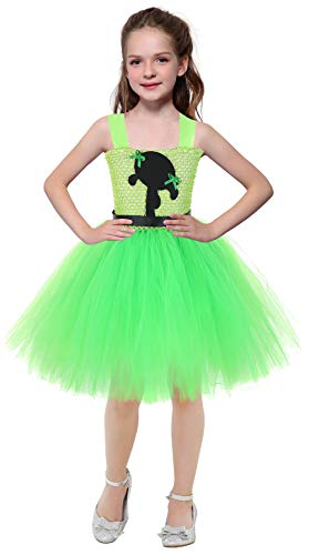 AQTOPS Powerpuff Girl Costume for Kids Buttercup Role Play Costumes Green]()