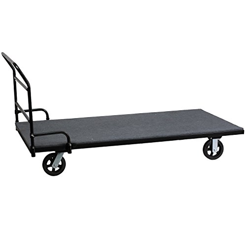 Flash Furniture Folding Table Dolly with Carpeted Platform for Rectangular Tables (Cart Table Dolly)