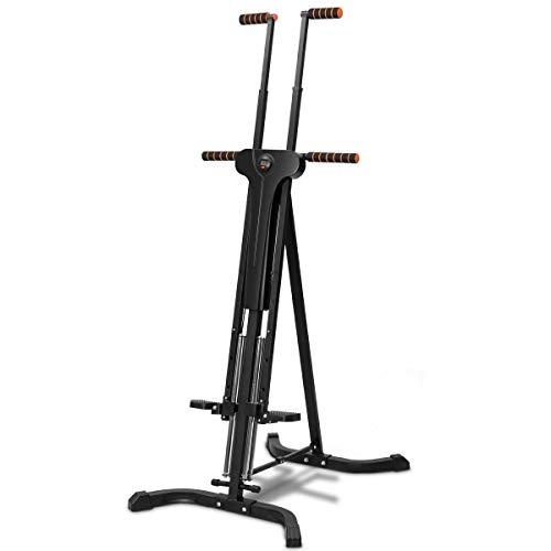 Goplus Vertical Climber Folding Stepper Climbing Exercise Machine w/Adjustable Height LCD Display Cardio Climbing System Home Gym (5 Adjustable Height) by Goplus (Image #9)
