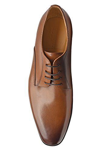 COMOTEK Mens Dress Shoes with Comfort Removable Soft Leather Insoles, 2018 Classic Oxford Design, Handcrafted by Full Grain Leather-Andros, TAN, US10.5-1 by COMOTEK (Image #8)