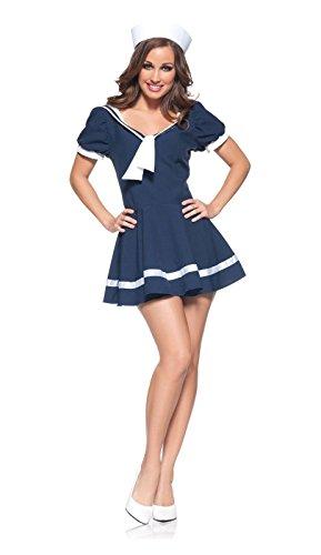Underwraps Women's Sassy Sailor, Navy/White, -