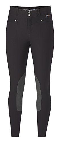 Kerrits Cross-Over Breech Kneepatch Black Size: Extra Large ()