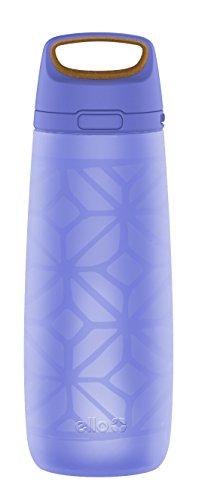 - Ello Wren Glass Water Bottle with One-Touch Flip Lid | 22 oz | Denim