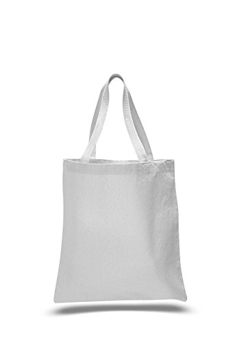 Pack of 6- Canvas Promotional Tote Bag, Green Bag - Size 15""
