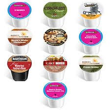 Italian Fudge - 10 Winter Variety K Cup Pack - Includes Santa's White Christmas, Gingerbread, Chocolate Fudge Cake, Italian Rum, Maple Sleigh, Winterfest, Tiramisu, Creme Burle, Chocolate Mint and Other Winter Flavors
