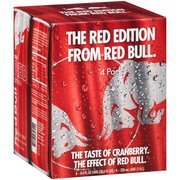 Red Bull The Red Edition Energy Drink, 8.4 fl oz, 4 pack(Case of 2) (Cranberry Red Bull Case)