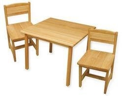 KidKraft  Aspen Table and Chair Set – Natural
