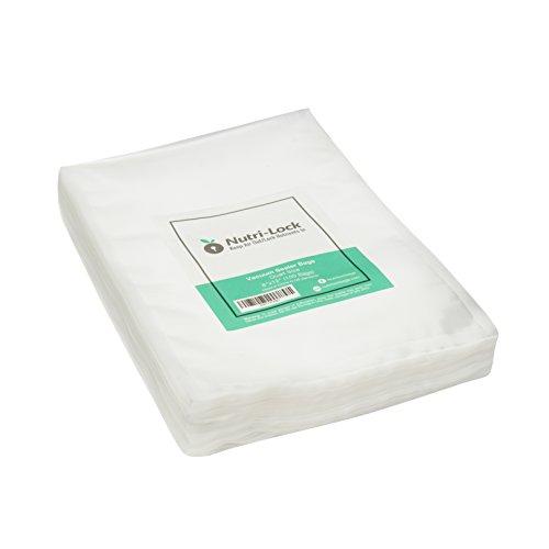 Nutri-Lock Vacuum Sealer Bags. 100 Quart Bags 8x12 Inch. Commercial Grade Food Sealer Bags for FoodSaver, Sous (Food Vacuum Bags)