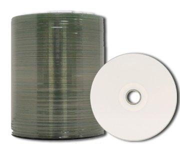 MediaPro White Thermal Hub Printable CD-R - 100 Pack (P55 Thermal)