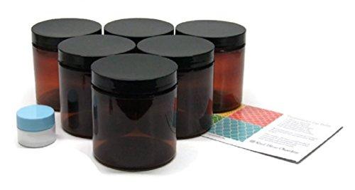 8 oz amber plastic jars - 7