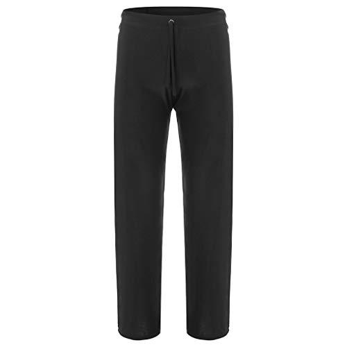 (Men's Pure Home Pants Yoga Pants Tie-up Comfortable Trousers)