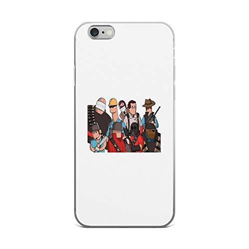 iPhone 6 Plus/iPhone 6s Plus Case Clear Anti-Scratch Team Fortress 2 - Cartoonified Team Design, Team Fortress 2 Cover Phone Cases for iPhone 6 Plus iPhone 6s Plus -