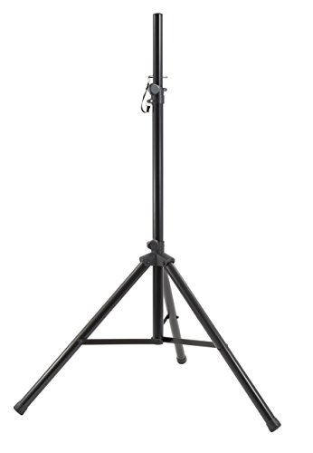 Gemini ST Series ST-04 Professional Audio DJ Fold-Out Telescoping Tripod Black Anodized Steel Speaker Stand, Up To 80