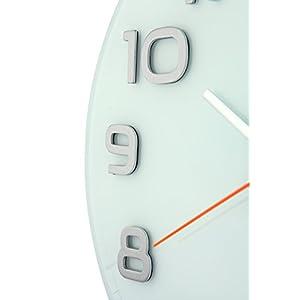 Nextime Reloj de Pared Classy Large, Muy silencioso, en Cristal, Blanco, Redondo, ø 50 cm 7