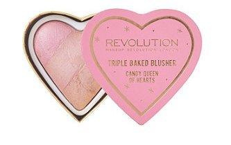 Makeup Revolution Blushing Hearts Triple Baked Blush Blusher, Candy Queen of Hearts - Queen Of Hearts Make Up