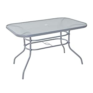 Havnyt Pacific 6 Seater Garden Patio Table in Silver or Black (Silver)