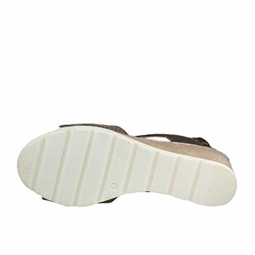 Caprice Damen 28701 Offene Sandalen mit Keilabsatz Braun Kombi