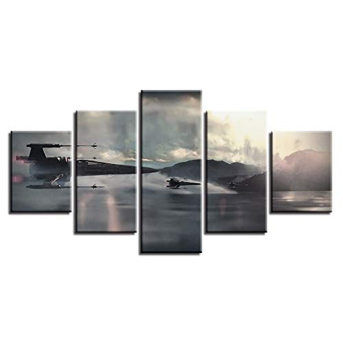 RUIHAN Modern Home Wall Art Decor Pictures Art Hd Printed Oil Painting 5 Panel Movie Episode On Canvas Poster Artworks No Frame 20x35 20x45 -