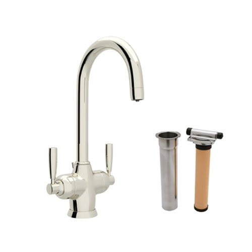 (Rohl U.KIT1335LS-PN-2 A7645Apc Perrin and Rowe Single Hole Bathroom Faucet with Triflow Filt, Polished Nickel)