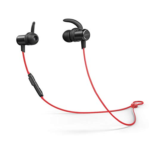 Anker SoundBuds Slim Workout Bluetooth Headphones, High Fidelity Sound, Secure Fit, IPX7 Waterproof, 10 Hour Playtime, Fast Charging