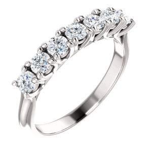 (Jambs Jewelry Platinum 3 mm Round Seven-Stone Anniversary Band Mounting)